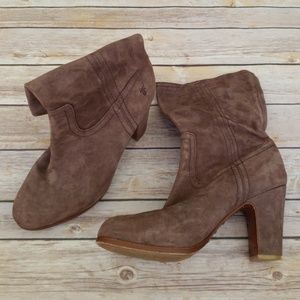 Frye Mirabelle Short Suede Boot - Size 8